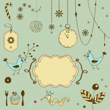 Hand drawn Christmas ornaments Stock Vector - 18224960