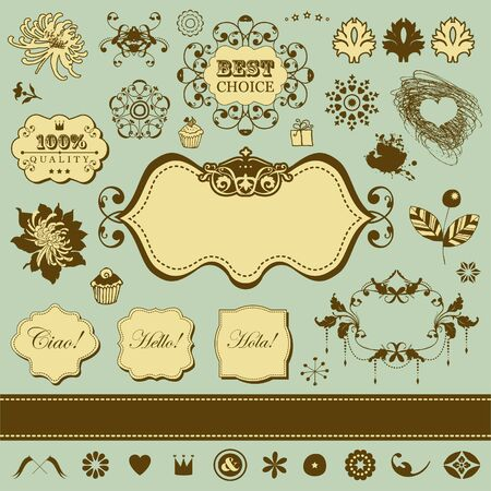 Vector set with vintage elements for You Stock Vector - 18224884