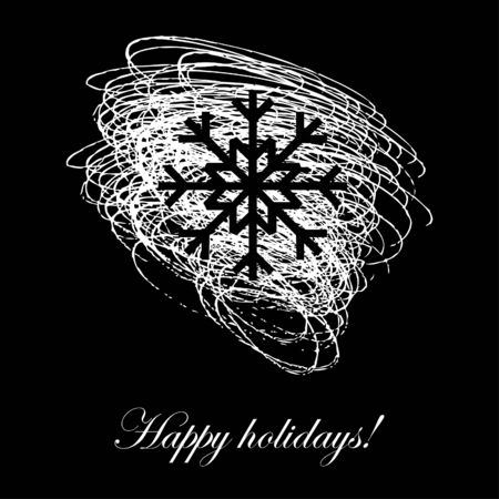 Holiday card with sketchy snowflake  Stock Vector - 18224849