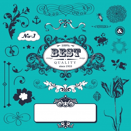 set in vintage style for You Stock Vector - 18224863