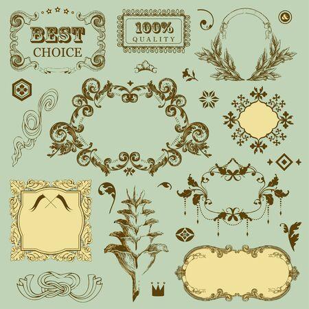 Vintage frames for You design  Stock Vector - 18224882