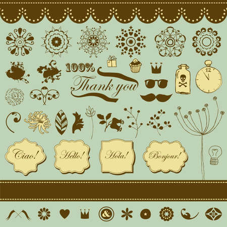 set with vintage elements for You  Stock Vector - 18224871