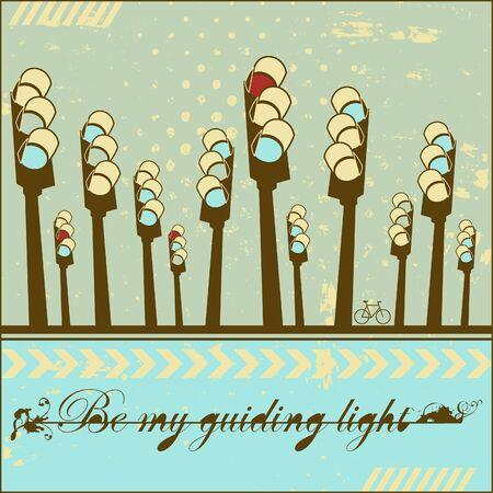 Be my guiding light - card  Stock Vector - 18224864