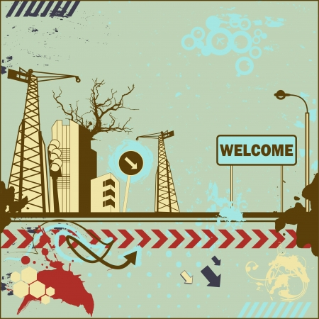 Grunge welcome card  Stock Vector - 18224870