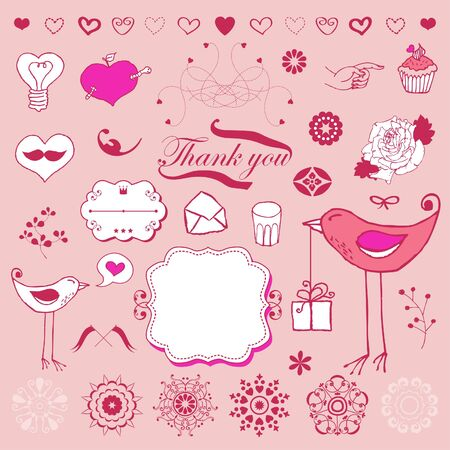 Lovely cute set for Your design  Stock Vector - 18224868