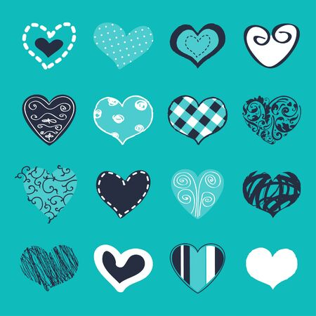 Set of hand drawn hearts for You Stock Vector - 18242299