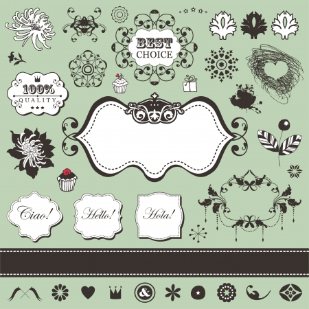 Vector set with vintage elements for You  Stock Vector - 18224877