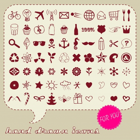 Universal icons for different occasions Illustration