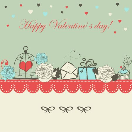 Valentin`s day greeting card Vector