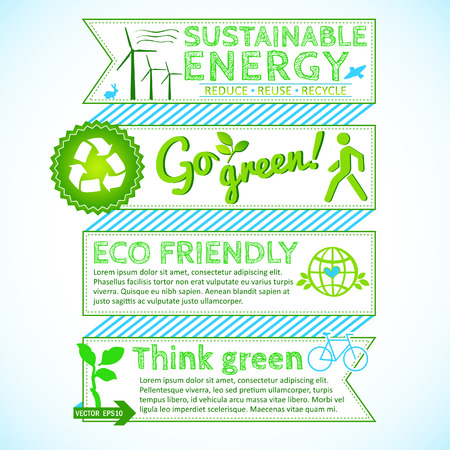 Green eco template for Your design Vector