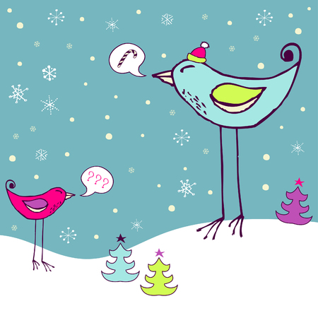 Cheerful holiday card Vector