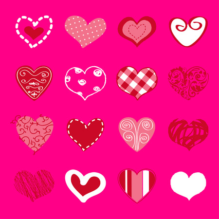 Set of hand drawn hearts for You Stock Vector - 22654362
