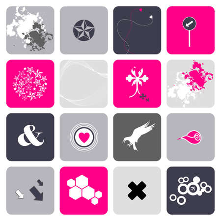 separately: Set of design elements, icons for use together or separately  Illustration