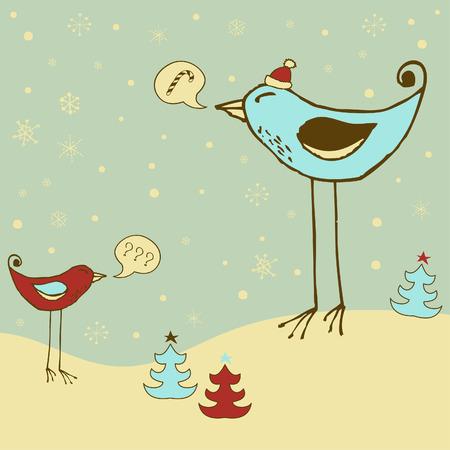 Cheerful holiday card  Vector
