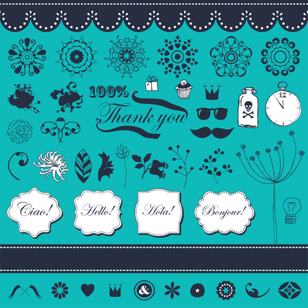 Vector set in vintage style Stock Vector - 22658500