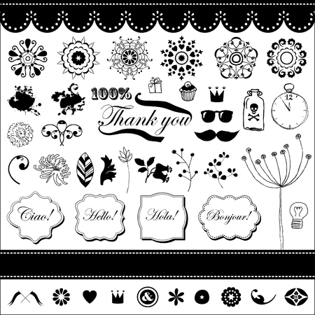Vector set in vintage style for You  Stock Vector - 22658503