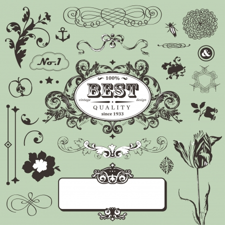Vector set in vintage style Stock Vector - 22658506
