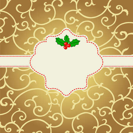 Abstract Christmas card with mistletoe  Stock Vector - 22658693