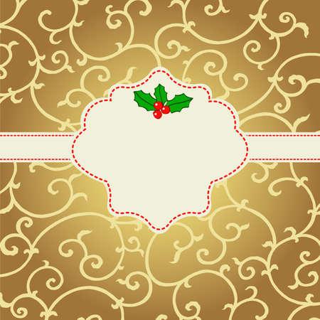 Abstract Christmas card with mistletoe Stock Vector - 22658693