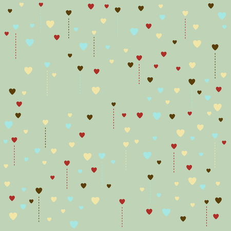Pattern made of heart shapes  Vector