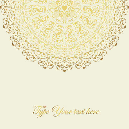 Stylish card with lace element  Vector