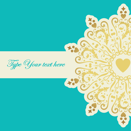 Elegant card with golden element  Vector