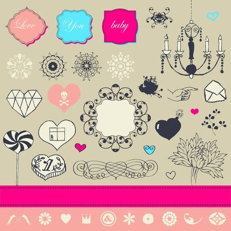 Lovely cute set for Your design  Stock Vector - 22712307