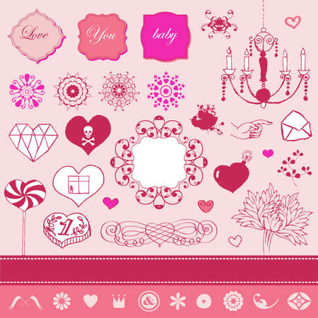 Lovely cute set for Your design Stock Vector - 22712305