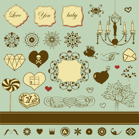 Lovely romantic set for Your design  Stock Vector - 22712304