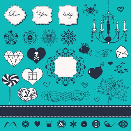 Lovely romantic set for Your design  Stock Vector - 22712308