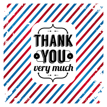 you are welcome: Thank you card on tricolor grunge background  Gratitude card for Your clients