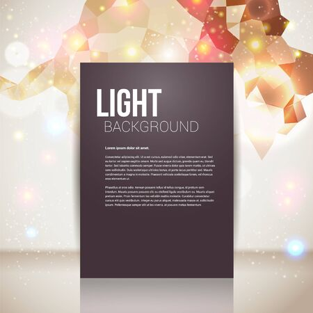radiant light: Bright and sparkling page layout with place for your text  Abstract geometric background  Illustration