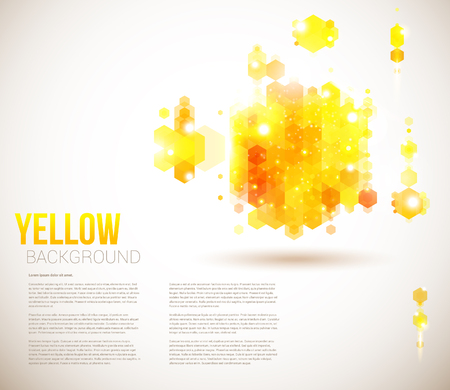 Bright and sunny page layout for your presentation  Geometric background with hexagons