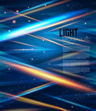 Blue elegant template for your business presentation  Geometric background with stylized shiny triangles  Vector