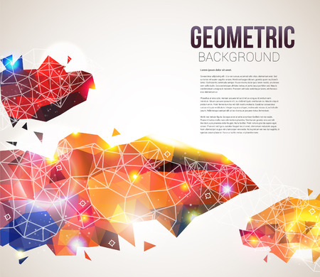 Colorful and glossy geometric pattern  Abstract page layout with place for your text