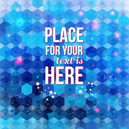 hexagon background: Blue hexagon background  Text and particles can be easily removed   Illustration