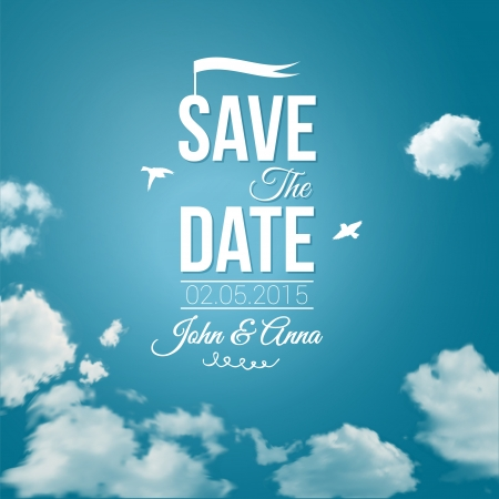 Save the date for personal holiday  Wedding invitation   Vector