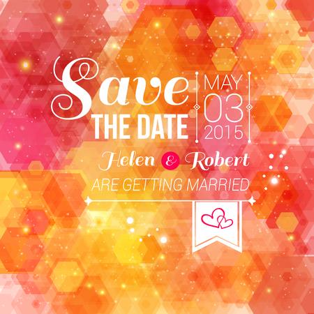 Sparen de datum voor persoonlijke uitnodiging vakantie Wedding Stock Illustratie