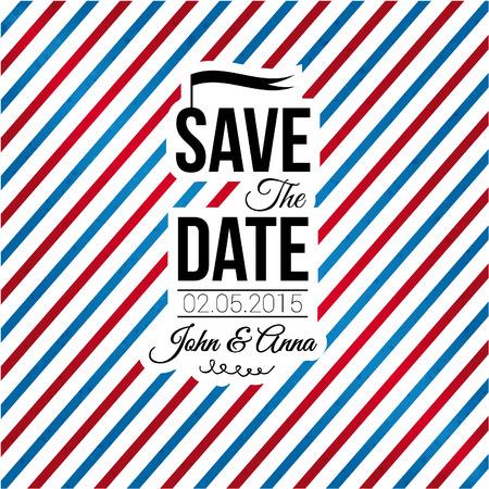 dattel: Speichern Sie das Datum f�r pers�nliches Urlaubs Hochzeitseinladung Illustration