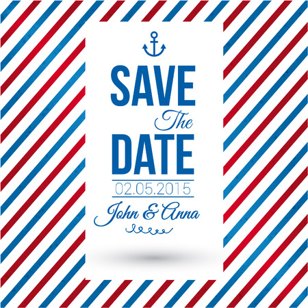 Save the date for personal holiday  Wedding invitation Reklamní fotografie - 22745505