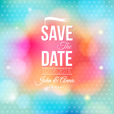 romantic date: Save the date for personal holiday  Wedding invitation