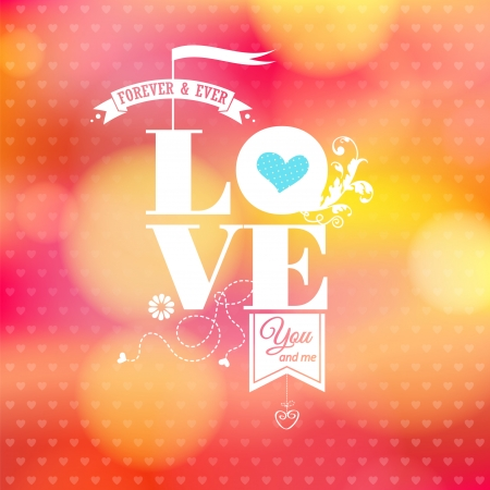 love image: Abstract romantic card  Soft blurry background  Illustration