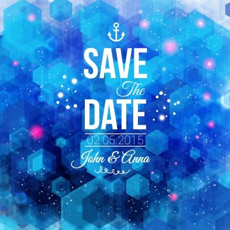 個人的な休日の結婚式の招待状の日付を保存します。