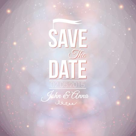 bodas de plata: Guardar la fecha para la invitaci�n personal de la boda de vacaciones en una imagen vectorial fondo suave encantadora