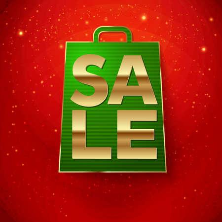 Christmas sale background  Vector illustration   Vector