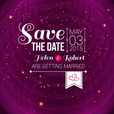 Save the date for personal holiday. Wedding invitation. Reklamní fotografie - 24015132
