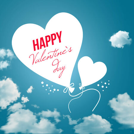 Lovely Valentine`s day card.  Vector