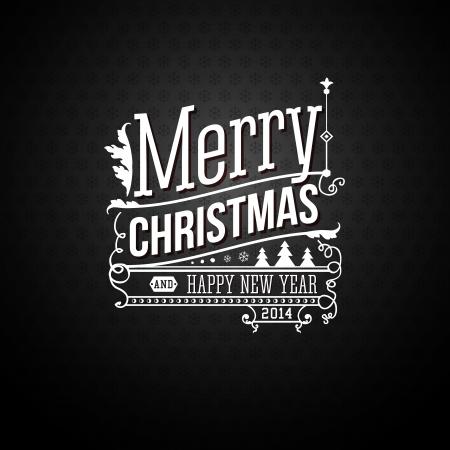 Kerst wenskaart. Merry Christmas belettering in vintage stijl. Stock Illustratie