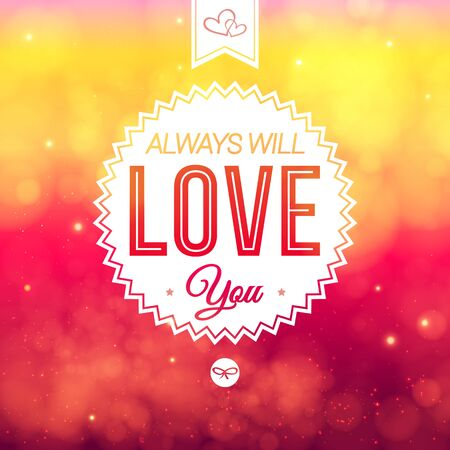 Abstract romantic Valentine card. Soft blurry background. Vector illustration. Vector