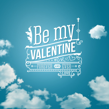 Lovely Valentine card with lettering style. Vector